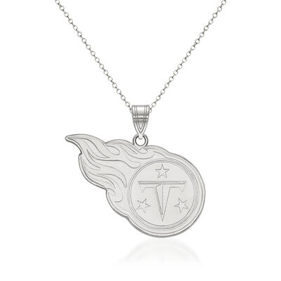 """Sterling Silver NFL Tennessee Titans Pendant Necklace. 18"""""""