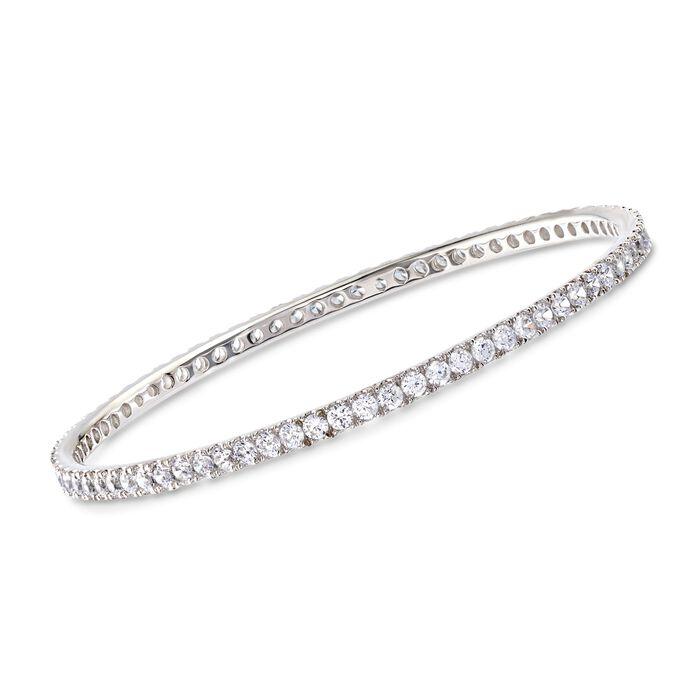 "4.25 ct. t.w. CZ Bangle Bracelet in Sterling Silver. 7"", , default"