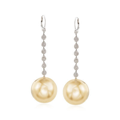 .69 ct. t.w. Pave Diamond Disc Drop Earrings in 14kt Two-Tone Gold, , default