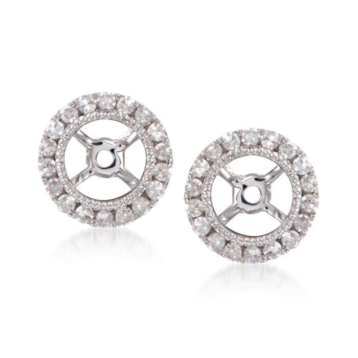 .25 ct. t.w. Diamond Earring Jackets in 14kt White Gold