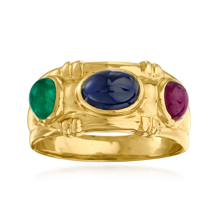 2.10 ct. t.w. Multi-Gem Ring in 14kt Yellow Gold