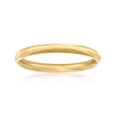 Women's 2mm 14kt Yellow Gold Wedding Ring, , default