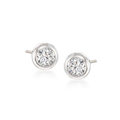 1.00 ct. t.w. Diamond Stud Earrings in 14kt White Gold, , default