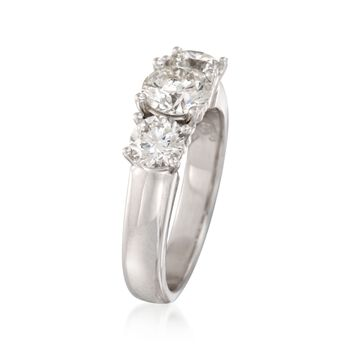 2.00 ct. t.w. Diamond Three-Stone Ring in 18kt White Gold, , default
