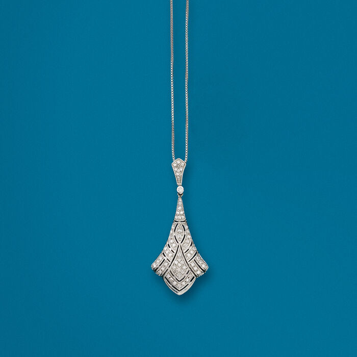 .33 ct. t.w. Diamond Pendant Necklace in Sterling Silver