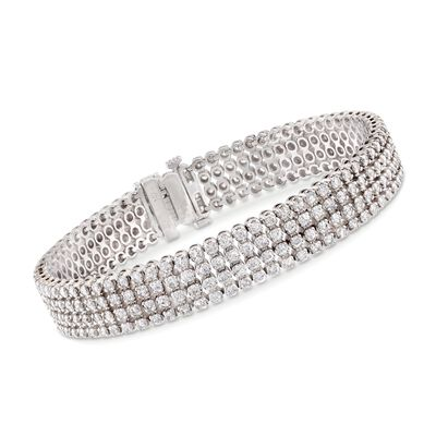 7.00 ct. t.w. Multi-Row Diamond Bracelet in 14kt White Gold, , default
