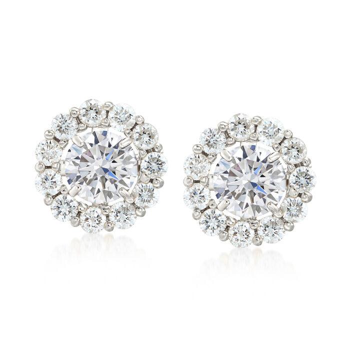 1.50 ct. t.w. Diamond Earring Jackets in 14kt White Gold