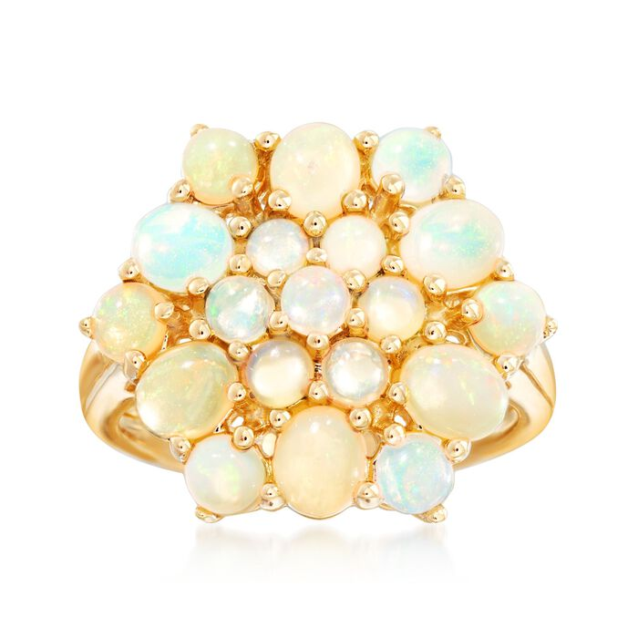 Opal Cluster Ring in 14kt Yellow Gold, , default