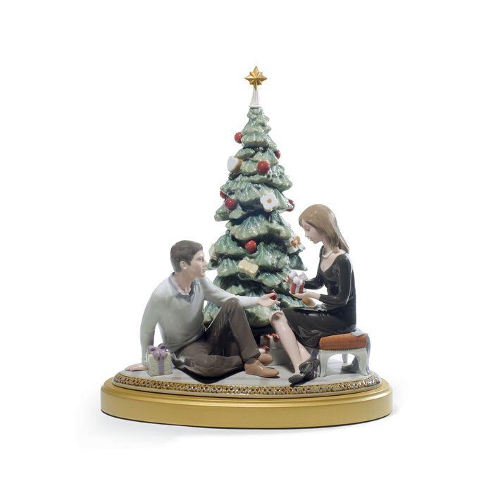 "Lladro ""A Romantic Christmas"" Limited Edition Porcelain Figurine, , default"