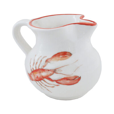 Abbiamo Tutto Italian Lobster Ceramic Pitcher, , default