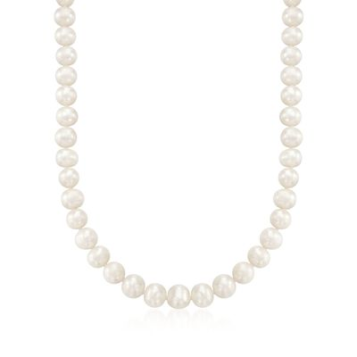 8.5-9.5mm Cultured Pearl Necklace with Sterling Silver, , default