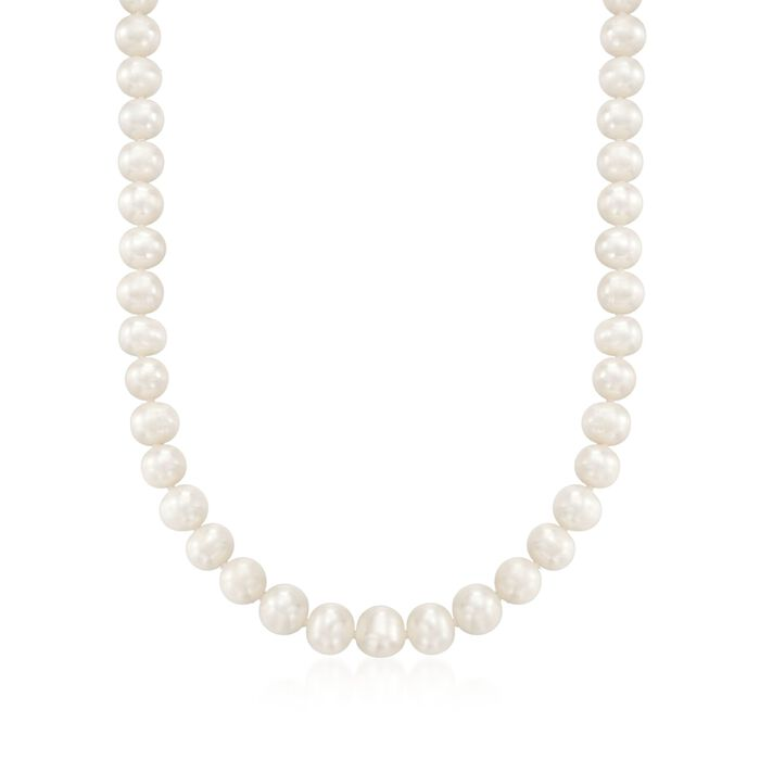 8.5-9.5mm Cultured Pearl Necklace with Sterling Silver