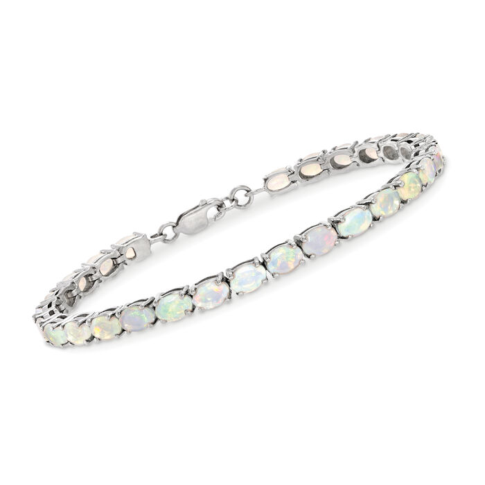 Opal Tennis Bracelet in Sterling Silver, , default