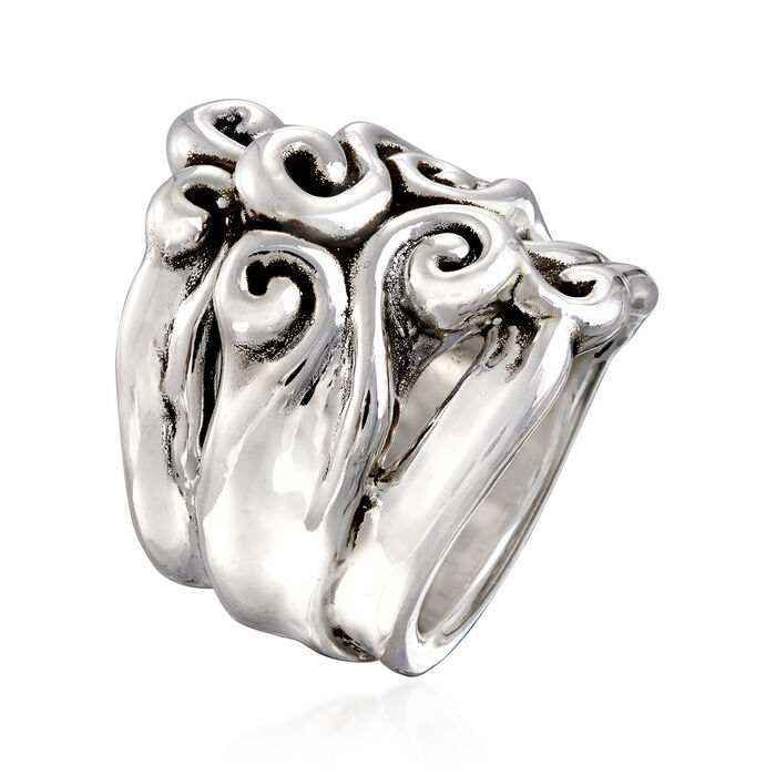 Sterling Silver Multi-Swirl Ring