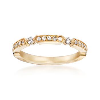 Henri Daussi .25 ct. t.w. Diamond Wedding Ring in 14kt Yellow Gold, , default