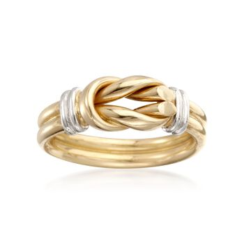 Roberto Coin 18kt Two-Tone Gold Knot Ring. Size 5, , default