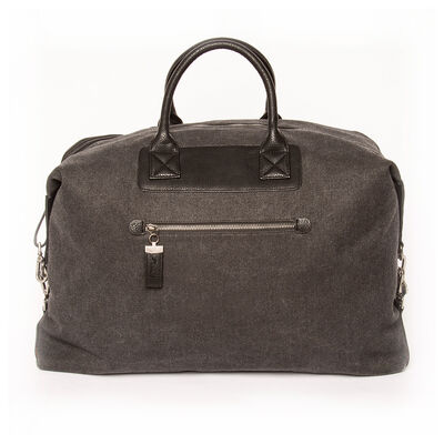 "Brouk & Co. ""Excursion"" Black Waxed Canvas Weekender Bag"