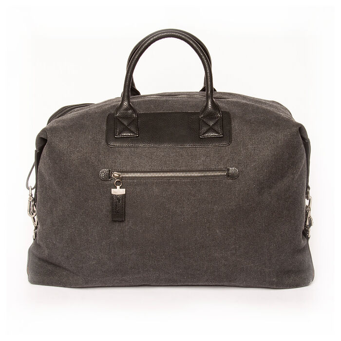 """Brouk & Co. """"Excursion"""" Black Waxed Canvas Weekender Bag"""