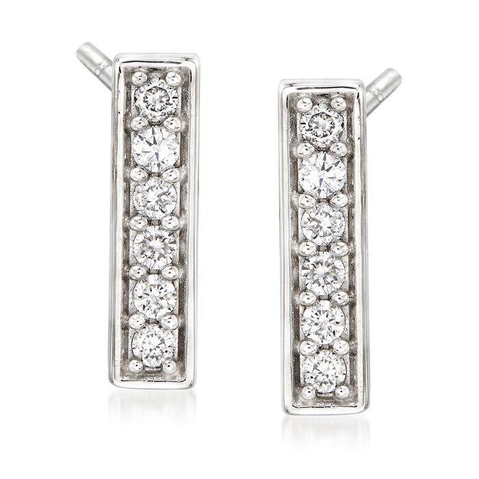 .25 ct. t.w. Diamond Bar Drop Earrings in 14kt White Gold
