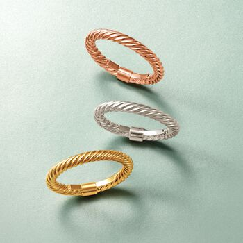 14kt Yellow Gold Stackable Twisted Ring