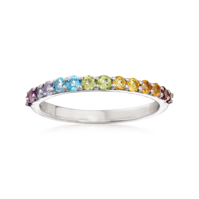 .46 ct. t.w. Multi-Stone Ring in Sterling Silver, , default