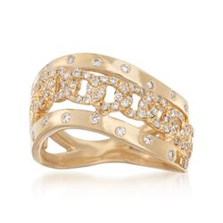 .48 ct. t.w. Diamond Chain Link Motif Ring in 14kt Yellow Gold, , default