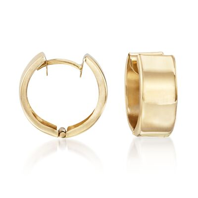 14kt Yellow Gold Small Polished Hoop Earrings, , default