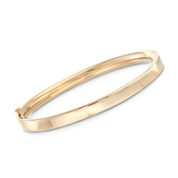Baby's 14kt Yellow Gold Bangle Bracelet. Size 4.5, , default