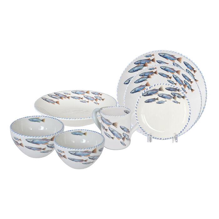 Abbiamo Tutto Italian School of Fish Ceramic Dinnerware, , default