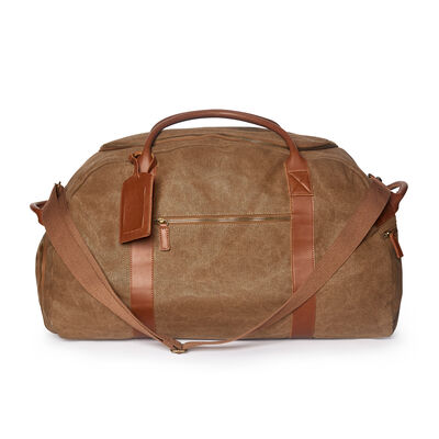 "Brouk & Co. ""Ballistic"" Brown Waxed Canvas Duffel Bag, , default"