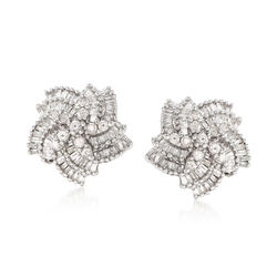 1.00 ct. t.w. Diamond Pinwheel Earrings in Sterling Silver, , default