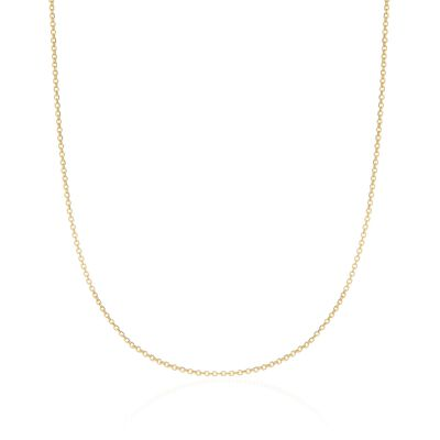 1.5mm 14kt Yellow Gold Cable Chain Necklace, , default