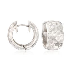 "Zina Sterling Silver ""Sahara"" Huggie Hoop Earrings. 5/8"", , default"