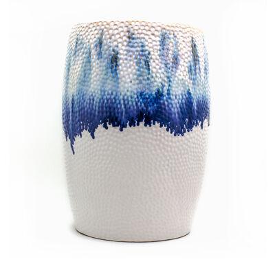 "Euro Ceramica ""Fusion"" Blue Ombre Stool"