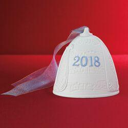 Lladro 2018 Annual Porcelain Bell Ornament, , default