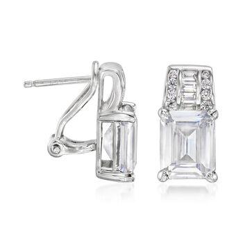 8.40 ct. t.w. CZ Earrings in Sterling Silver, , default