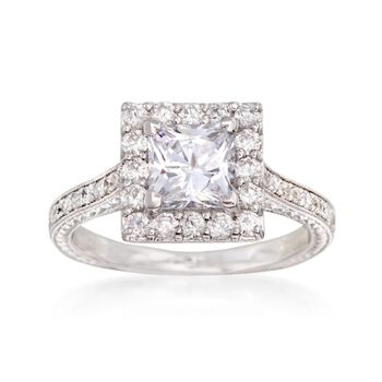 Gabriel Designs .75 ct. t.w. Diamond Engagement Ring Setting in 14kt White Gold, , default