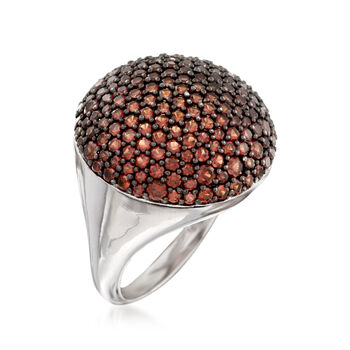 2.90 ct. t.w. Garnet Dome Ring in Sterling Silver
