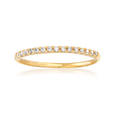 Italian .10 ct. t.w. CZ Ring in 14kt Yellow Gold