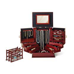 """""""Safekeeper Deluxe II"""" Wooden Jewelry Organizer, , default"""