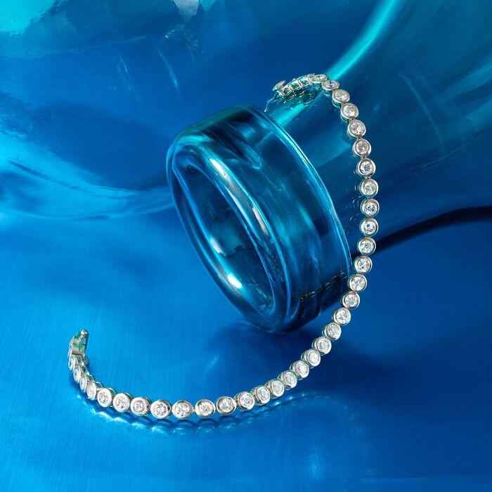 5.00 ct. t.w. Bezel-Set Diamond Tennis Bracelet in 14kt White Gold