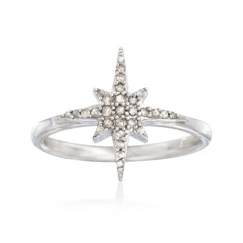 .15 ct. t.w. Diamond Star Ring in Sterling Silver, , default