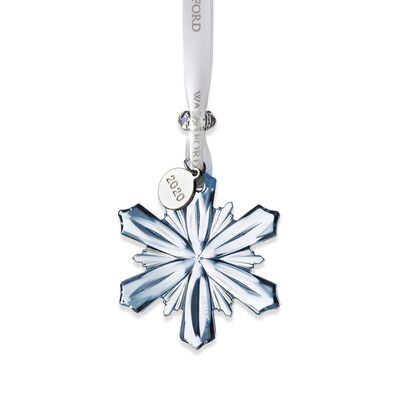 Waterford 2020 Blue Crystal Snowflake Ornament