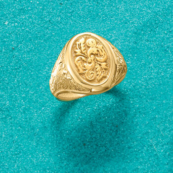 Italian Signet Ring in 14kt Yellow Gold