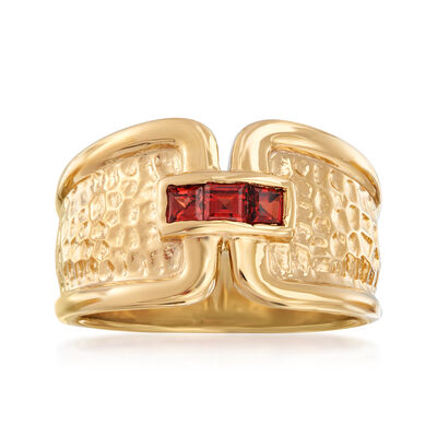 .30 ct. t.w. Garnet Ring in 18kt Gold Over Sterling, , default