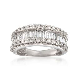 2.00 ct. t.w. Baguette and Round Diamond Ring in 14kt White Gold, , default