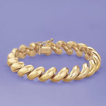 14kt Yellow Gold San Marco Bracelet, , default