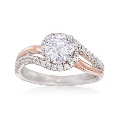 Gabriel Designs .30 ct. t.w. Diamond Engagement Ring Setting in 14kt Two-Tone Gold