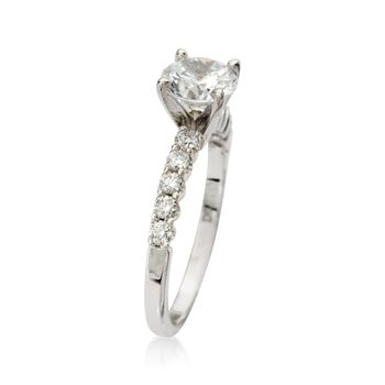 .30 ct. t.w. Diamond Engagement Ring Setting in 18kt White Gold, , default