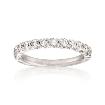 Henri Daussi .75 ct. t.w. Diamond Wedding Ring in 14kt White Gold